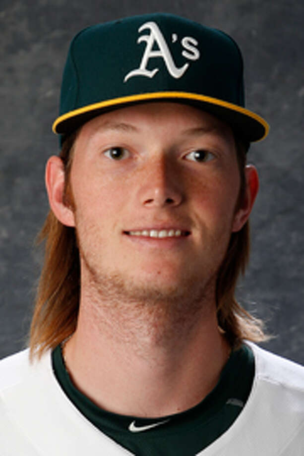 Oakland A's pitching prospect A.J. Puk.