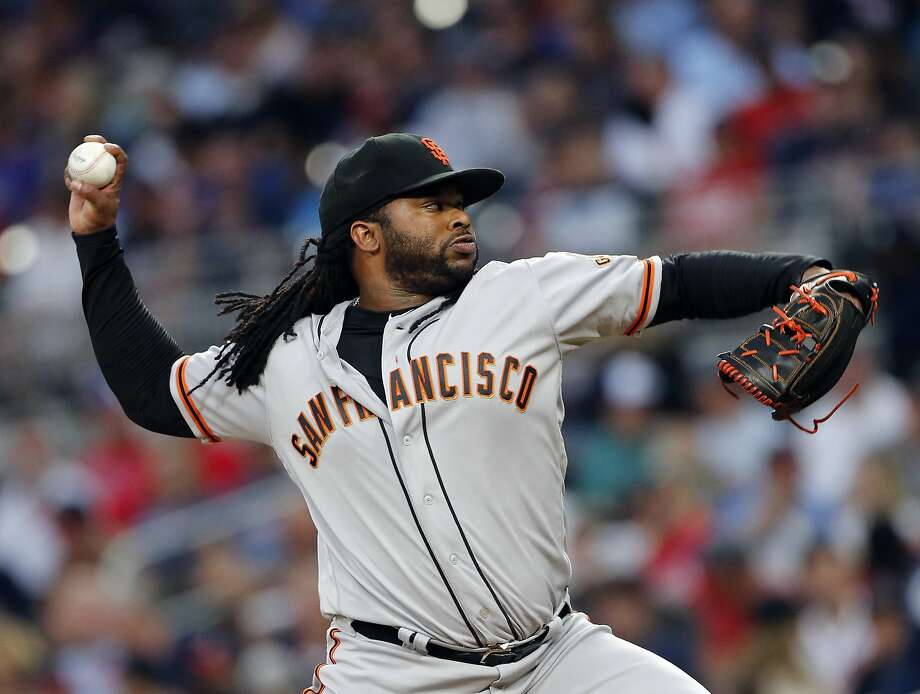 Giants pitcher Johnny Cueto said at no point did he consider chucking his Giants contract. Photo: John Bazemore, Associated Press