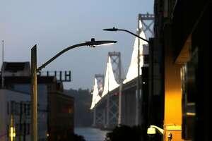 LED street light on Harrison Street in San Francisco, Calif., on Monday, June 19, 2017.