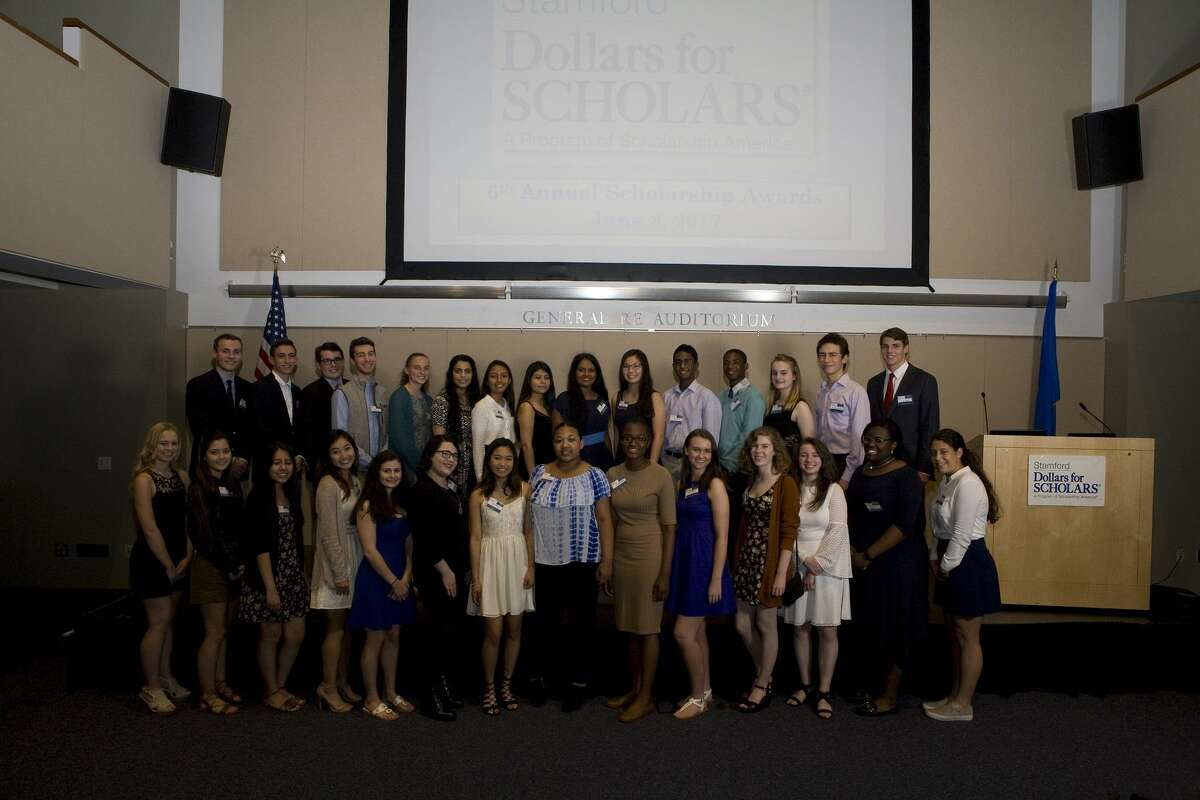 Dollars for Scholars awarded 29 Stamford high school students $97,500 in scholarships at an awards ceremony June 8.