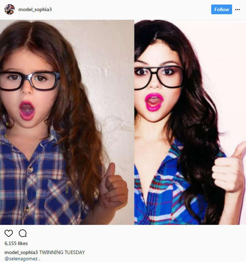 Adorable 4 year old instagram model grew her following by copying a utah 4 year old recreates actress selena gomezs most popular instagram photos to altavistaventures Image collections