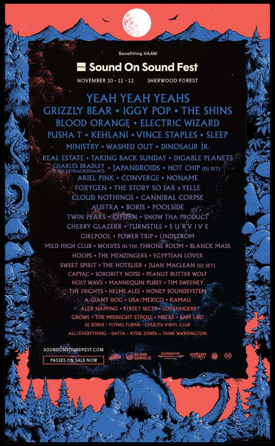 Sound on Sound Fest lineup poster Photo: Courtesy Sound On Sound Fest