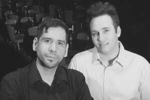 Robert Olivas (from left) and Shawn Kjos run The Harlequin (formerly the Harlequin Dinner Theatre).