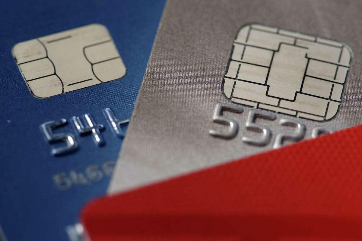 This Wednesday, June 10, 2015 photo shows chip credit cards in Philadelphia. (AP Photo/Matt Rourke)