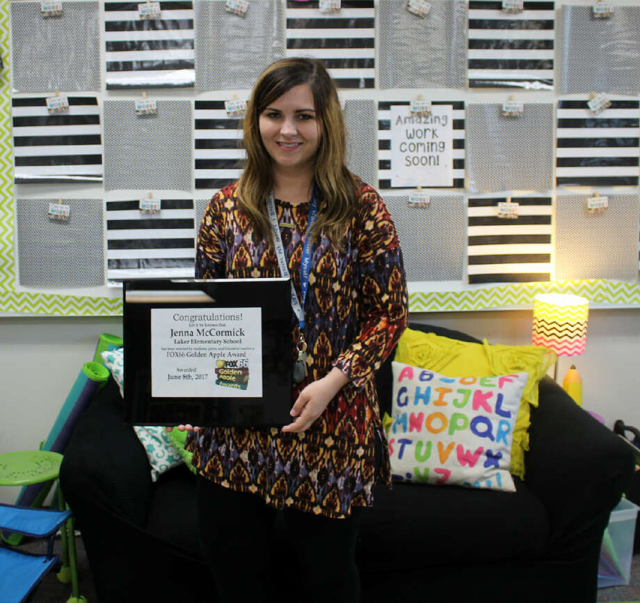 Jenna McCormick recently won a Golden Apple Award from a local television station. Photo: Submitted Photo