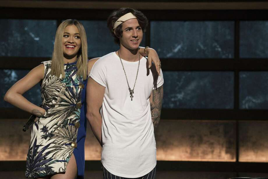 Texas Hill Country native and devoted Spurs fan Miles Wesley has been having a blast with pop superstar Rita Ora on 'Boy Band' on ABC. Photo: Eric McCandless /ABC / © 2017 American Broadcasting Companies, Inc. All rights reserved.