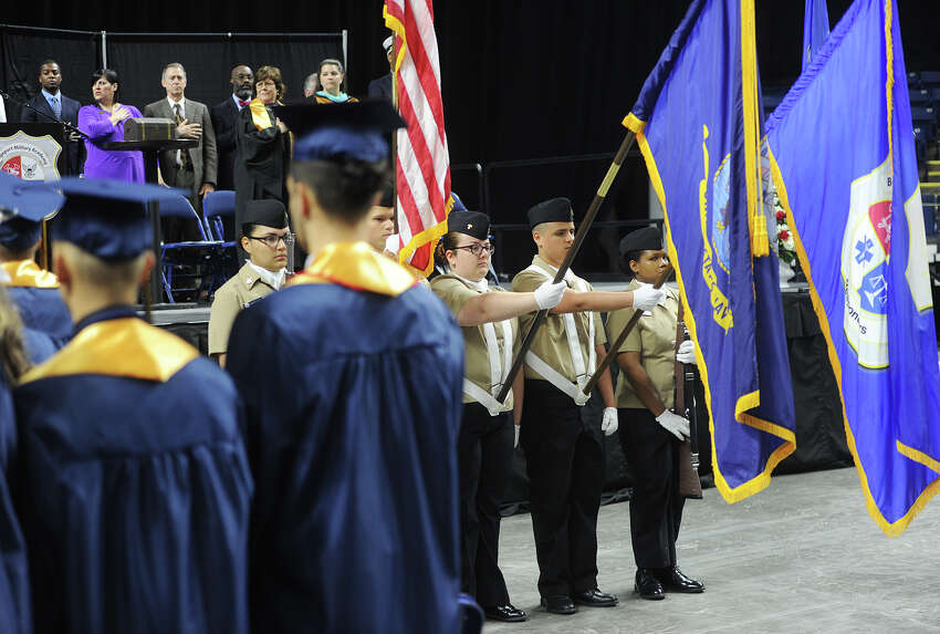 The Bridgeport Military Academy's first graduation ceremony at the Webster Bank Arena in Bridgeport, Conn. on Tuesday, June 20, 2017.