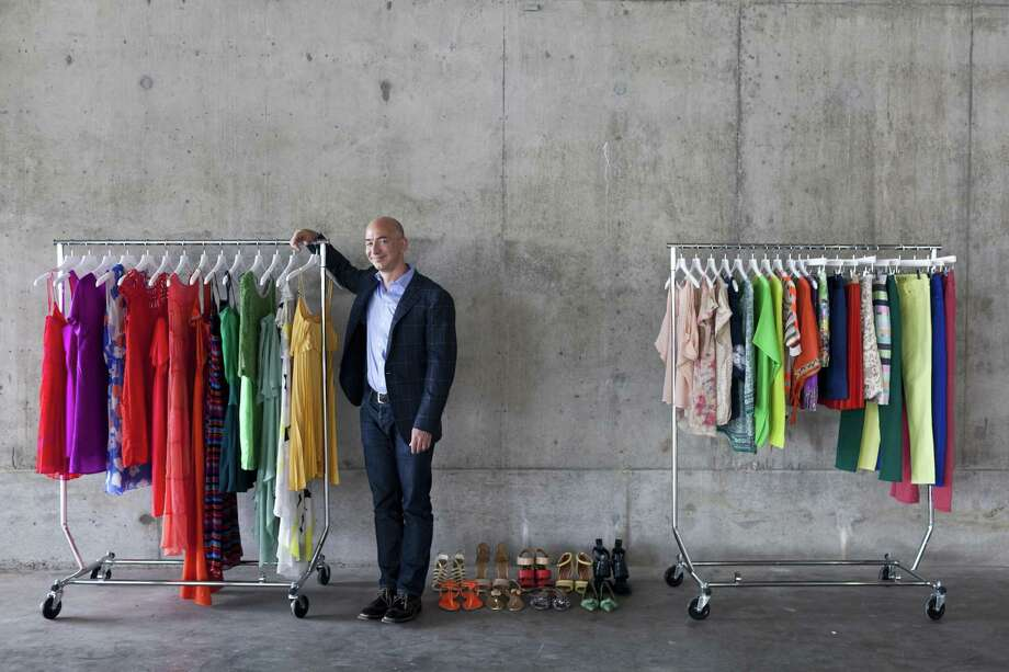 Amazon founder Jeff Bezos' Prime Wardrobe service is the latest move by Amazon into fashion. The program, announced on Tuesday and available only to members of the Amazon Prime membership service, will allow people to order clothing and only be charged for items that are not returned in the resealable shipping box. Photo: New York Times File Photo / NYTNS
