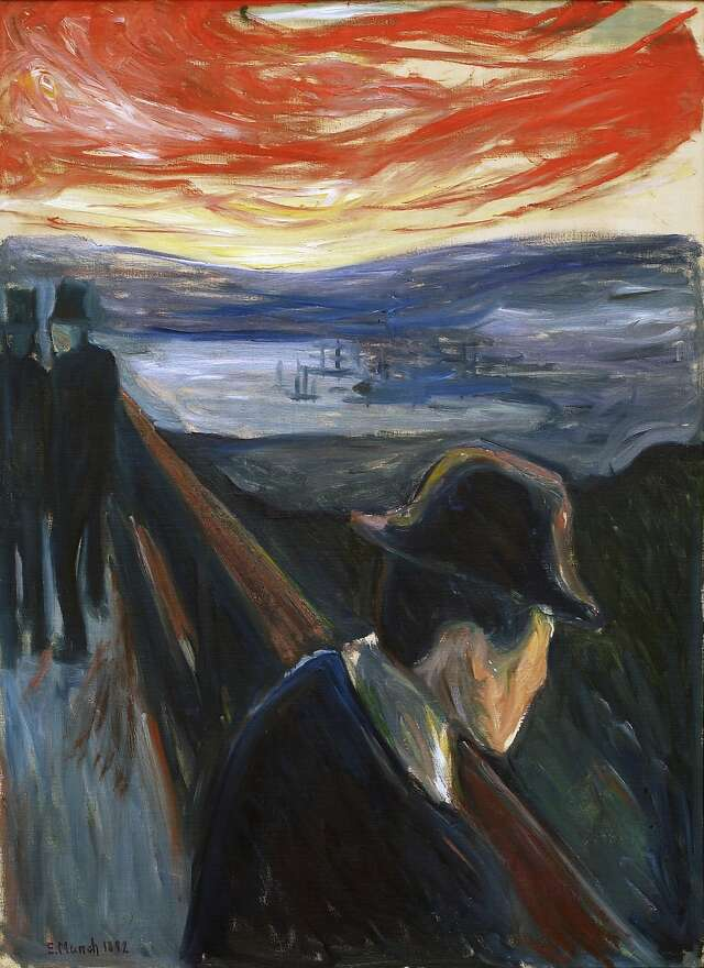 SELF PORTRAIT BETWEEN THE CLOCK AND THE BED PAINTING BY EDVARD MUNCH REPRO