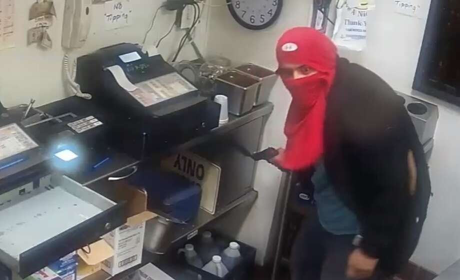 On Tuesday, March 21 at about 11:40 p.m., four armed men broke into the Flamingo Chill in the 6400 block of Airline at closing time. The men pointed guns at employees and demanded money from the registers and personal property. Photo: Houston Police Department