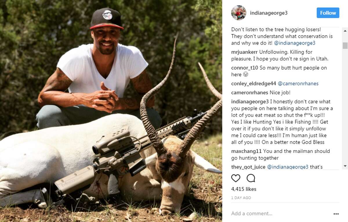 Goerge Hill went hunting in the Hill Country. The free agent is currently in the San Antonio area and recently shared photos on Instagram showing his excursion with Lonesome Boar Adventures.