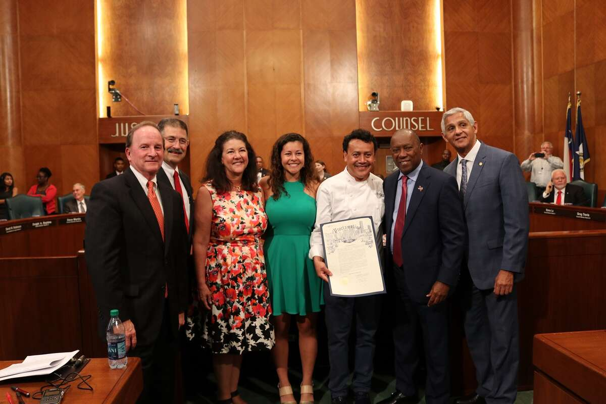 Chef Hugo Ortega was honored with a proclamation at city hall declaring June 20 Chef Hugo Ortega Day in Houston.