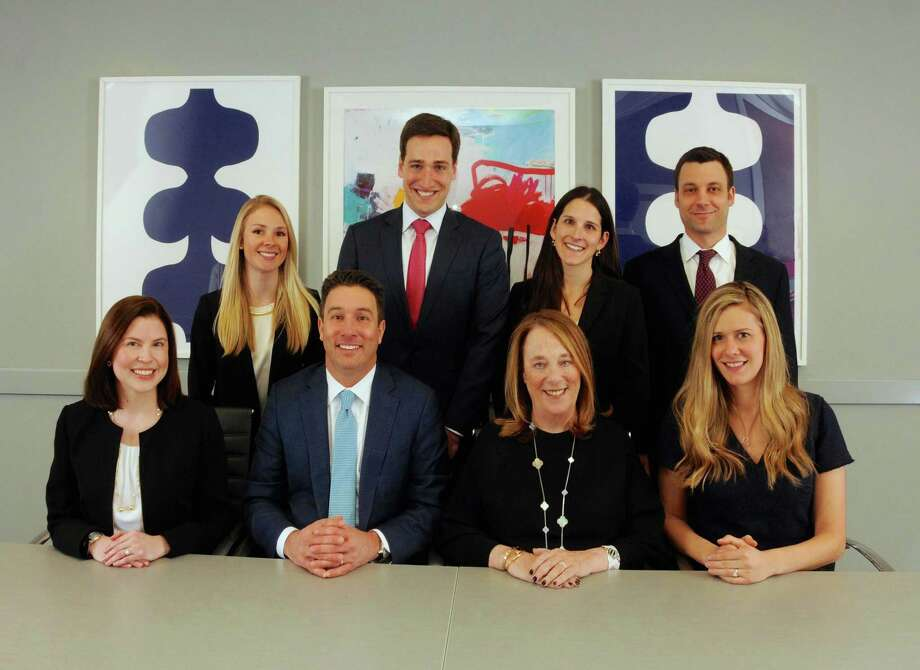 The law firm of Broder and Orland LLC, which concentrates exclusively in family law, has opened new offices in Greenwich on East Putnam Avenue to complement its offices in Westport. Staff includesf: Top row: Amanda E. Ell, Christopher J. DeMattie, Amanda K. Rieben, Andrew M. Eliot; Bottom row: Sarah E. Murray, Eric J. Broder, Carole Topol Orland, Lauren M. Healy. Photo: Contributed
