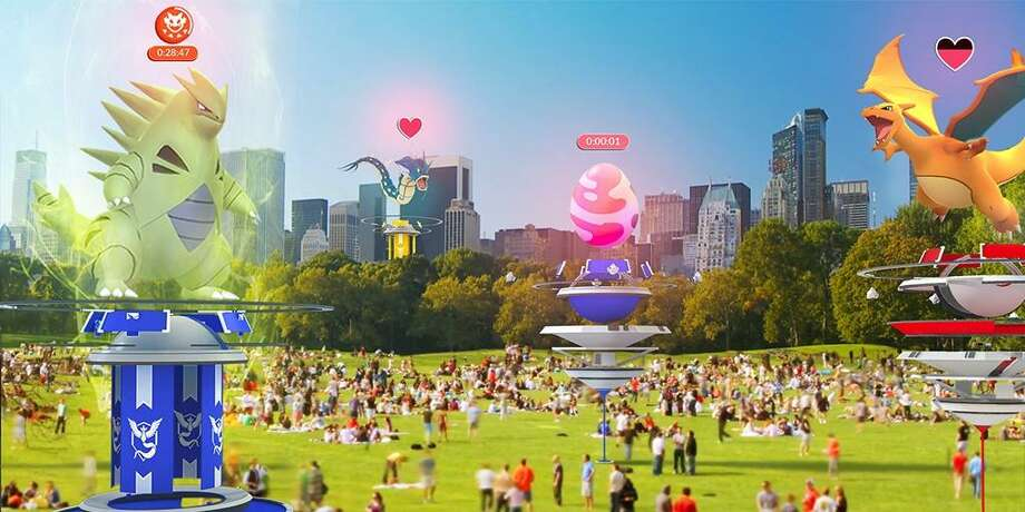 Just in time for its first anniversary, the hit augmented reality game Pokémon GO gets a major update that promises new Gym features and cooperative gameplay. The update started rolling out globally June 19, and should be done in the next few weeks. Photo: Courtesy Niantic