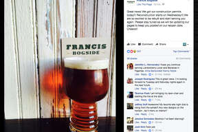 A June 20 post on the Facebook page for the San Antonio pub Francis Bogside indicates that the business, closed since a fire in October 2016, is ready to start rebuilding.