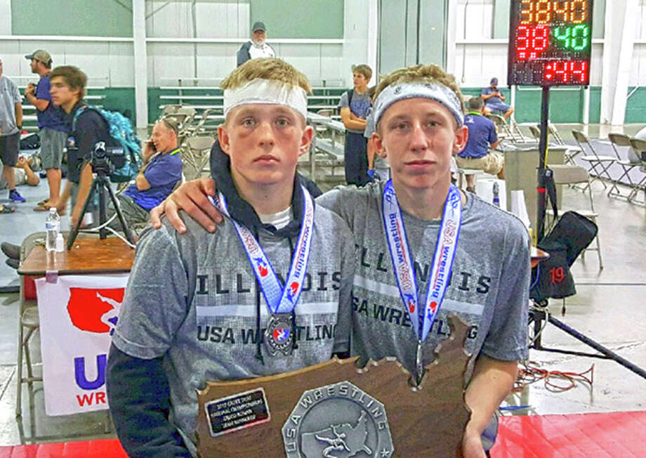 Luke Odom and Noah Surtin after competing at the Cadet Nationals.