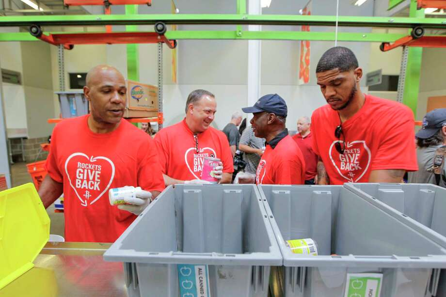 Rockets take a day to serve others at food bank Houston Chronicle