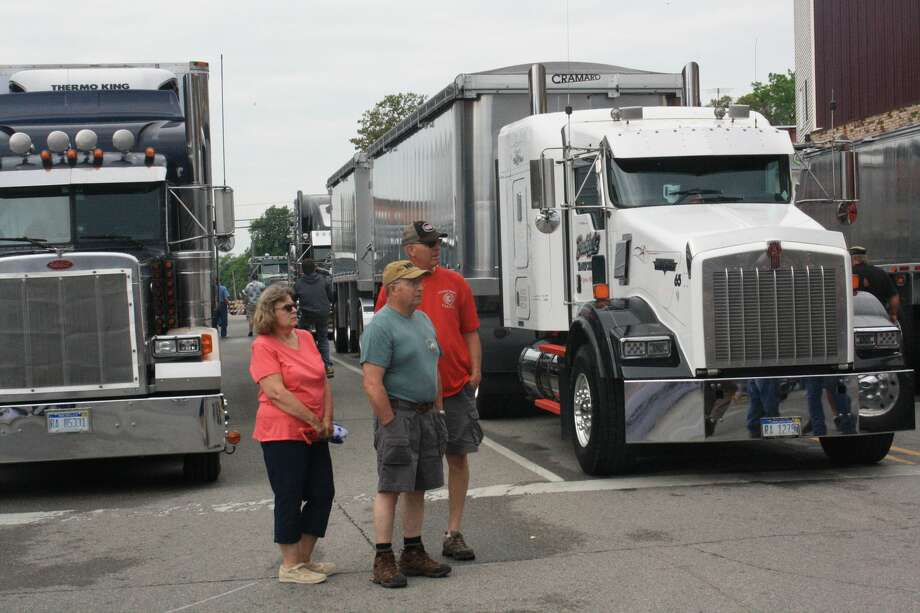 The Harbor Beach Truck Show recently rolled into town. Photo: Rich Harp/For The Tribune