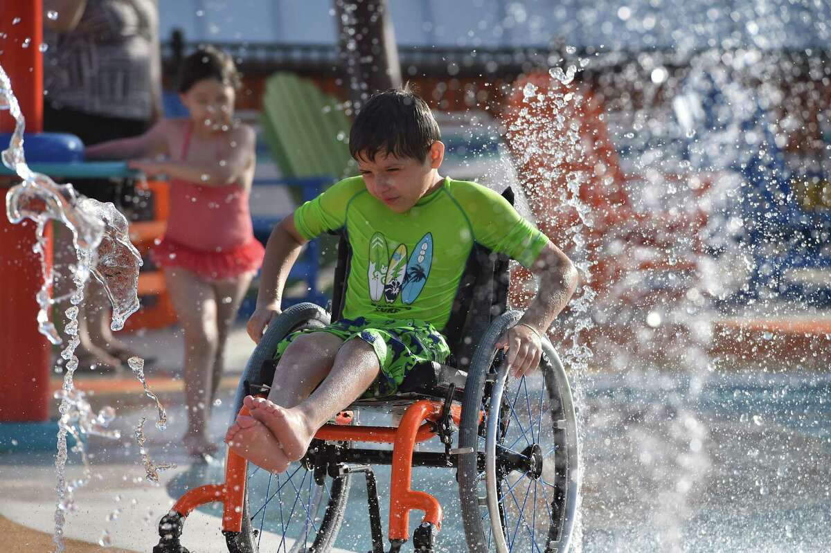 Morgan's Wonderland just opened its new Inspiration Island, a splash park for individuals with special needs.