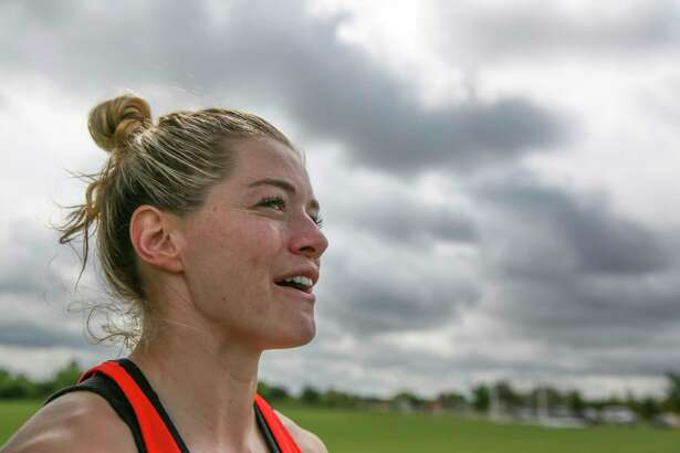 Kealia Ohai, the captain and last original Dash player, after training at Houston Sports Park Thursday, June 1, 2017, in Houston. ( Yi-Chin Lee / Houston Chronicle )