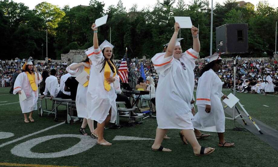 Stamford High School Class of 2017 commencement exercises at M.A. Boyle Stadium in Stamford, Conn., on Tuesday, June 20, 2017. Photo: Matthew Brown, Hearst Connecticut Media / Stamford Advocate