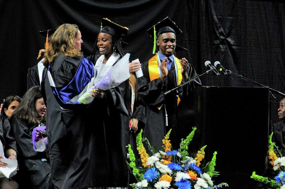 The Interdistrict Science Magnet School held its Second Annual Commencement at the Webster Bank Arena in Bridgeport, Conn., on Tuesday June 20, 2017. Photo: Christian Abraham, Hearst Connecticut Media / Connecticut Post