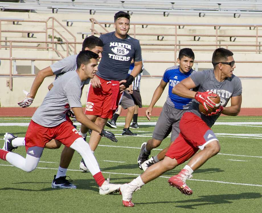 Martin, which tied with Nixon in the Tigers' only game last week, battles unbeaten United during summer league 7on7 football Wednesday at 5:30 p.m. at Krueger Field. Photo: Francisco Vera /Laredo Morning Times File / Laredo Morning Times