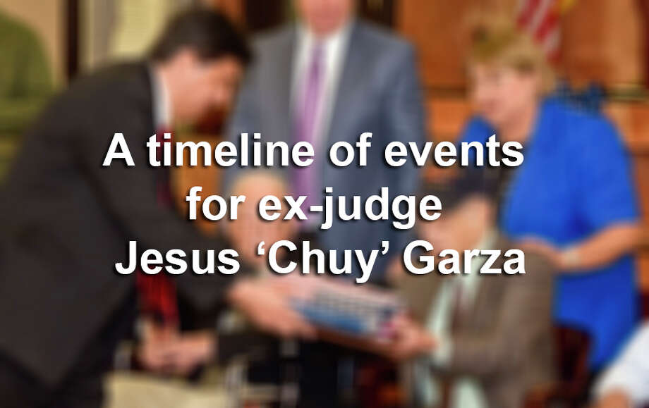 Click through this gallery to see a timeline of events regarding the career of ex-judge Jesus 'Chuy' Garza.