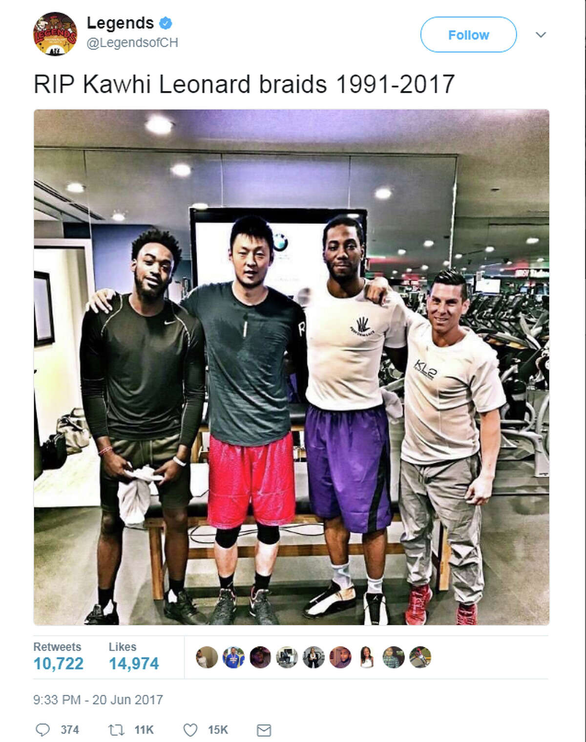 Updated The Internet Is Freaking Out About Kawhi Leonard S New Hairdo