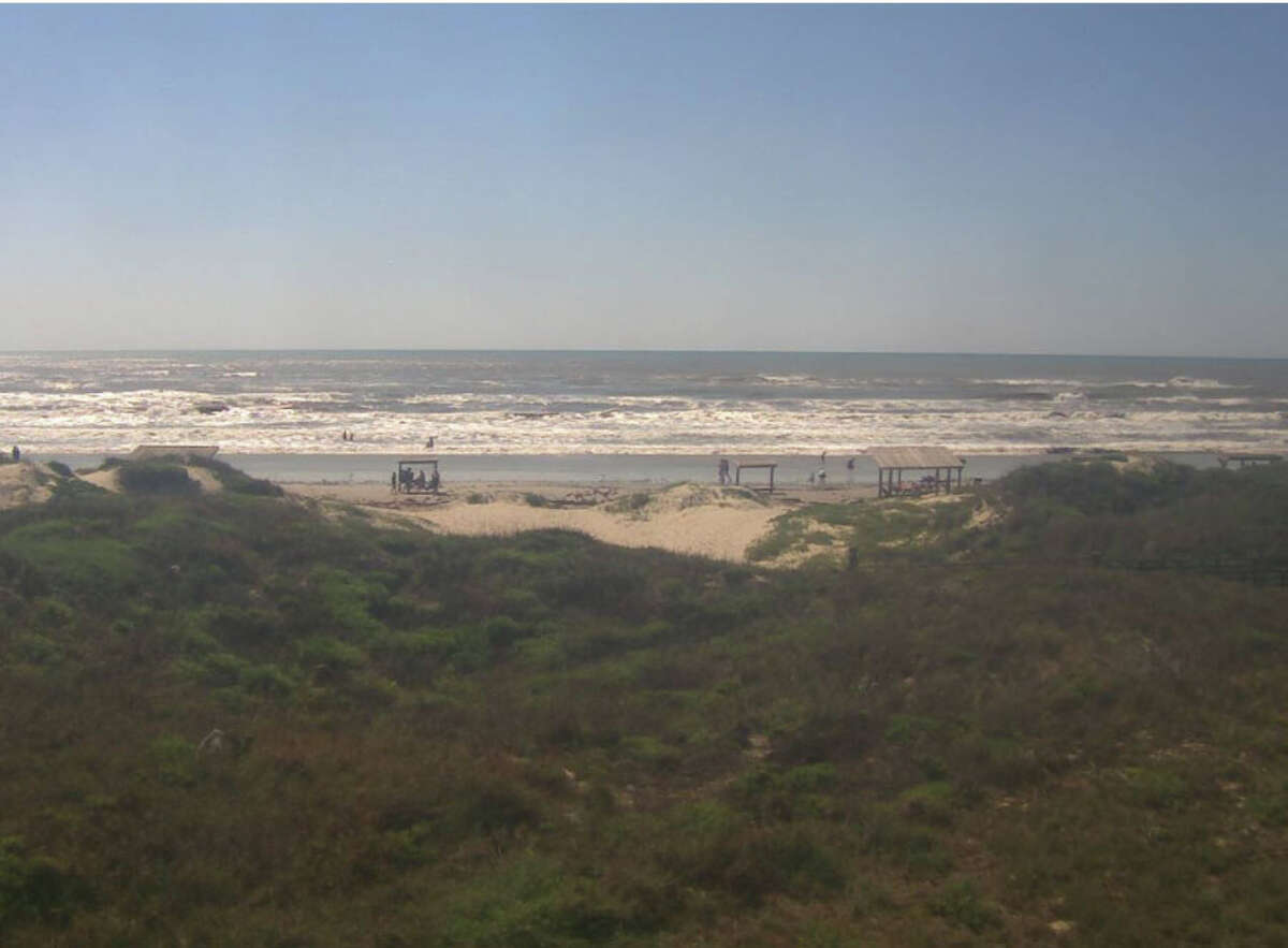 Photo shows current conditions at Malaquite Beach as of 10:51 a.m. this morning.
