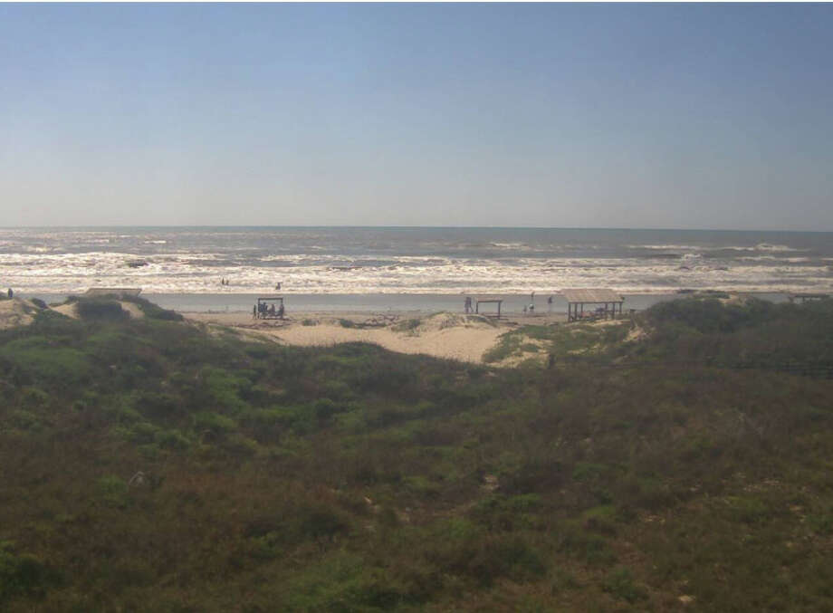 Photo shows current conditions at Malaquite Beach as of 10:51 a.m. this morning.  Photo: Padre Island National Seashore