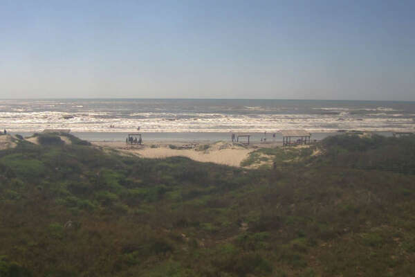 Photo shows current conditions at Malaquite Beach at the Padre Island National Seashore as of 10:51 a.m. Wednesday morning.