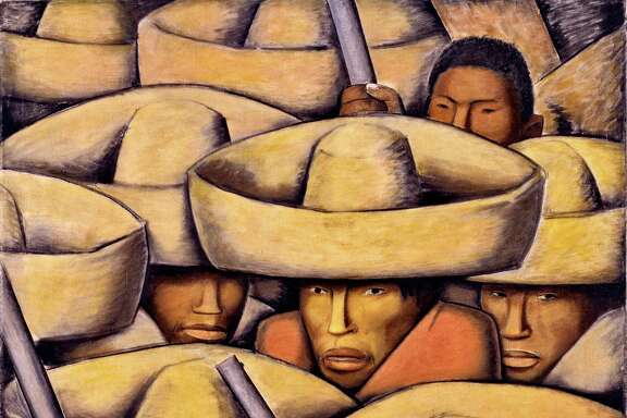 """Alfredo Ramos Marténez's """"Zapatistas,"""" c. 1932,is among works on view in """"Paint the Revolution: Mexican Modern Art, 1910-1950,"""" at the Museum of Fine Arts, Houston June 25-Oct. 1."""