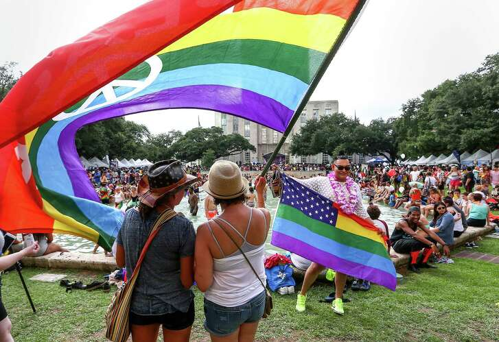 The Houston Pride Festival runs from noon to 7 p.m. at Hermann Square outside City Hall. The Houston Pride Parade kicks off at 8:30 p.m. downtown.