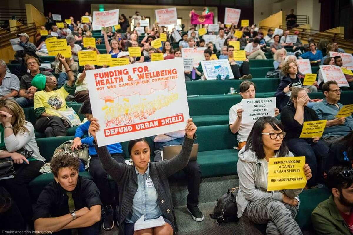 Berkeley City Council erupted in protest as members voted to continue the city's participation in Urban Shield.