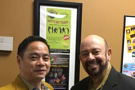 World Theatre opened about 14 months ago in Katy thanks to the efforts of Lawrence Wong, left, producer and director of operations, and Burton Wolfe, executive and artistic director.