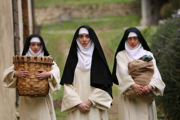 """Kate Micucci, left, Alison Brie and Aubrey Plaza in """"The Little Hours"""""""
