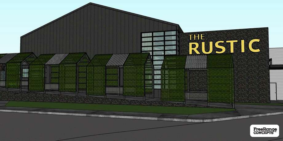 The Rustic restaurant and bar will open next to the George R. Brown Convention Center next year. Renderings courtesy of Freerange Concepts.