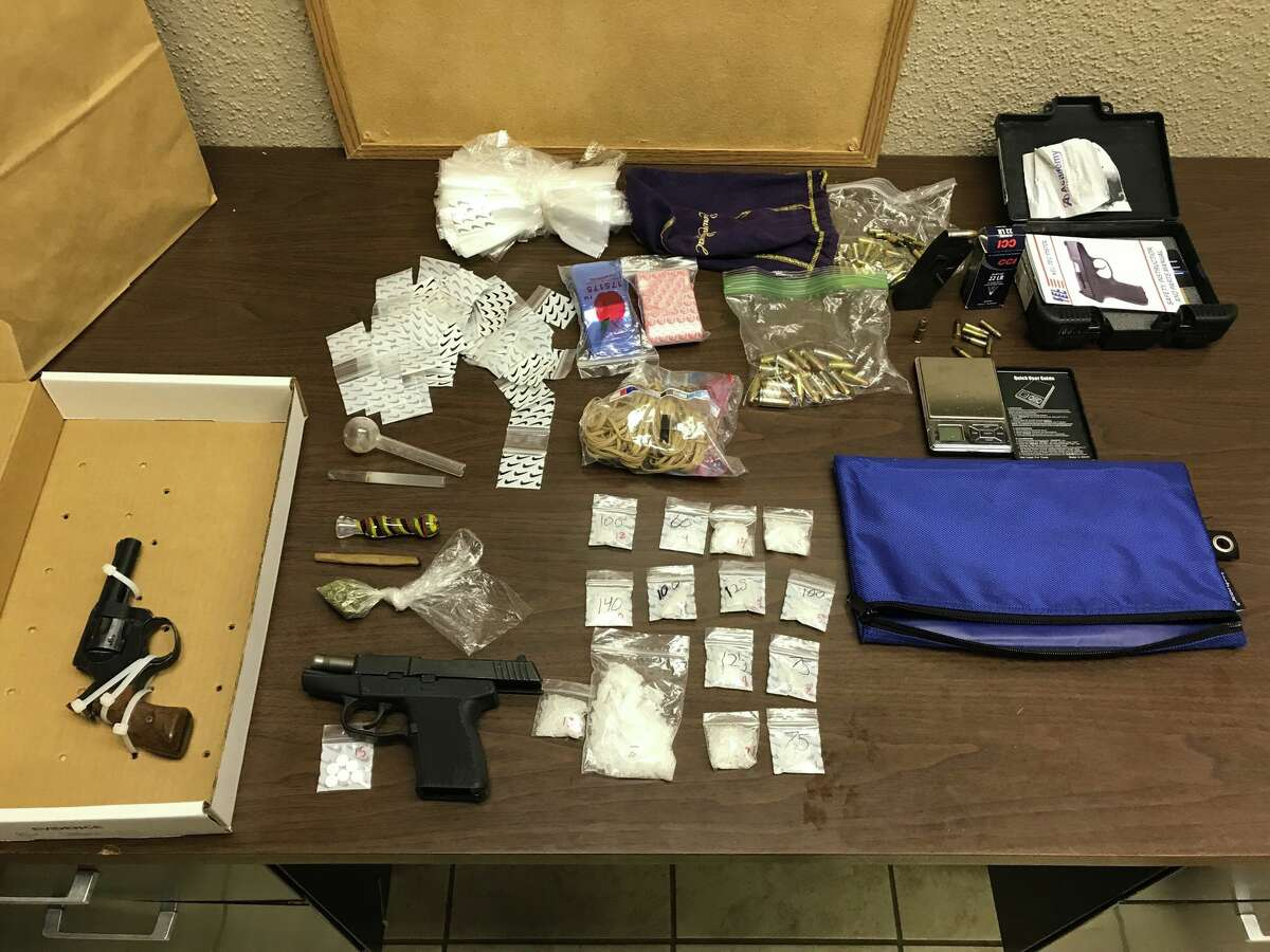 Jonathon Paul Cockrell, 24, of Mesquite, faces numerous charges, including Arkansas warrants for possession of drugs and firearms, as well as charges of manufacturing or delivering of control substance, unlawful carry of a weapon, possession of a dangerous drug, possession of marijuana, and possession of drug paraphernalia.