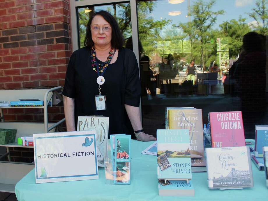 Barbara Monin, a reader's advisor and chairman of the Darien Library's Book Readers Festival, gave recommendations at the historical fiction table at the event held on June 20, 2017 in Darien, CT. Photo: Erin Kayata / Hearst Connecticut Media / Darien News