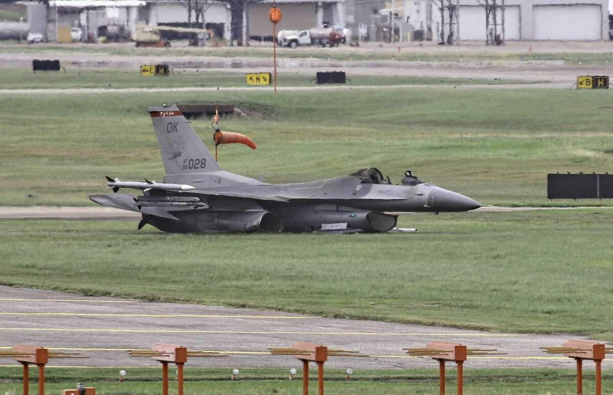"""The Oklahoma Air National Guard's 125th Fighter Wing lost a F-16C Block 42E """"Viper"""" on Wednesday, June 21, 2017 when it crashed at Ellington Field. The pilot made a safe ejection."""