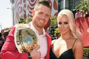 """WWE Superstar  Michael """"The Miz"""" Mizanin (seen here with wife and professional wrestler Maryse Ouellet) has put his Los Angeles-area mansion up for sale. The Hollywood Hills home on Laurel Canyon is listed for $3.65 million."""