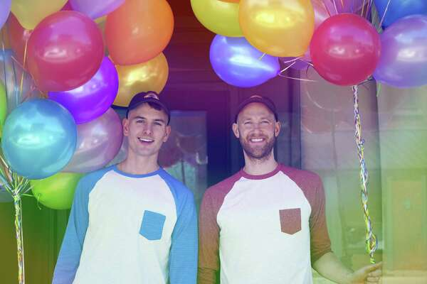 Nicholas Ruiz and Casey Fitzpatrick (L-R) outside 3-5 Wall Street in Norwalk, Conn., where they plan to open in August 2017 the LGBT club Troupe429.
