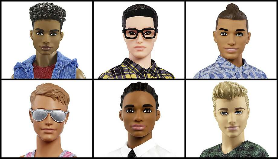This photo combo of images provided by Mattel shows a variety of Ken dolls now available from Mattel. Mattel announced Tuesday, June 20, 2017, that the company is introducing 15 new looks for the male doll, giving him new skin tones, body shapes and hairstyles. The makeover is part of the toy company's plan to make its dolls more diverse and try to appeal to today's kids, many of whom would rather pick up an iPad than a doll. Barbie received a similar overhaul more than a year earlier. Photo: Associated Press