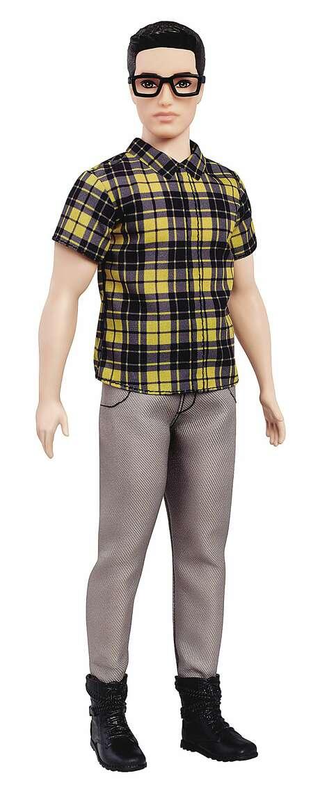 "Description: Broad body Ken (glasses) Renamed: Hipster ""lumbersexual"" Ken Photo: Associated Press"