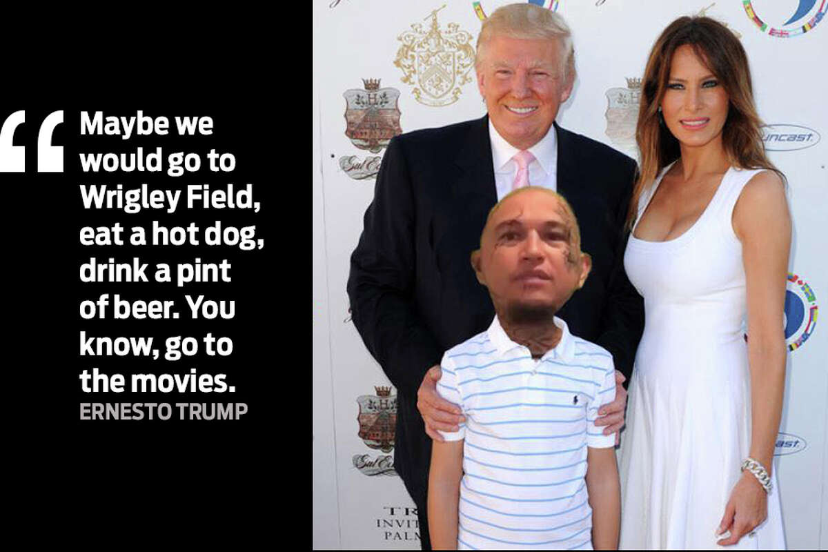 """""""Maybe we would go to Wrigley Field, eat a hot dog, drink a pint of beer. You know, go to the movies."""" Ernesto Baeza Acosta, of Odessa, Texas, recently changed his legal name to Ernesto Trump."""