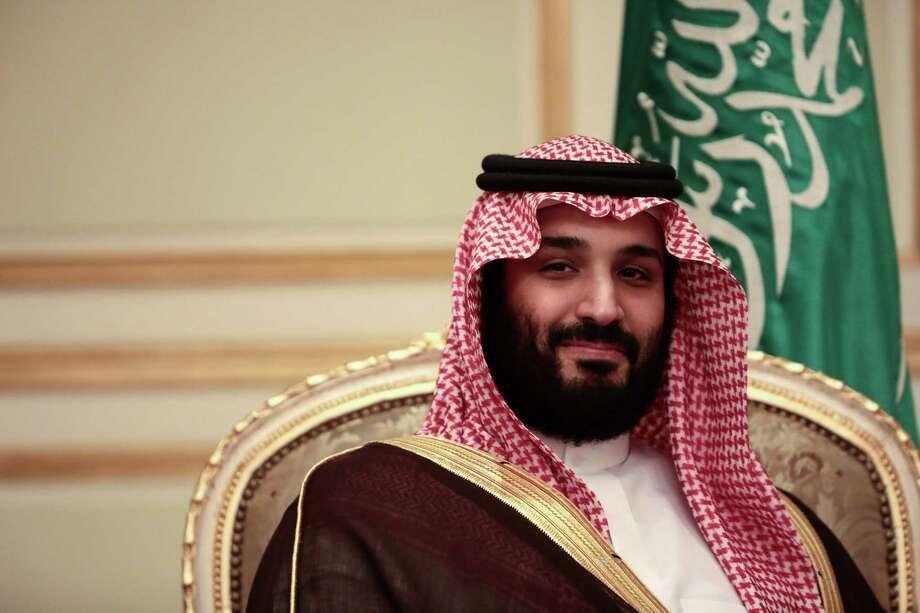 Saudi Arabia's Mohammed bin Salman, the kingdom's new crown prince, during a bilateral meeting with U.K. Prime Minister Theresa May in Riyadh, Saudi Arabia in April. Photo: Simon Dawson /Bloomberg / © 2017 Bloomberg Finance LP