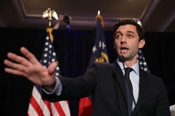 ATLANTA, GA - JUNE 20:  Democratic candidate Jon Ossoff delivers a concession speech during his election night party being held at the Westin Atlanta Perimeter North Hotel after returns show him losing the race for Georgia's 6th Congressional District on June 20, 2017 in Atlanta, Georgia. Mr. Ossoff ran in a special election against his Republican challenger Karen Handel in a bid to replace Tom Price, who is now the Secretary of Health and Human Services.  (Photo by Joe Raedle/Getty Images) ***BESTPIX***