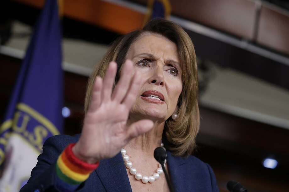 House Minority Leader Nancy Pelosi, D-Calif., speaks during a weekly news conference on Capitol Hill in Washington, Friday, June 9, 2017. Democratic Party divisions are on stark display after a disappointing special election loss in a hard-fought Georgia congressional race. (AP Photo/J. Scott Applewhite) Photo: J. Scott Applewhite, Associated Press