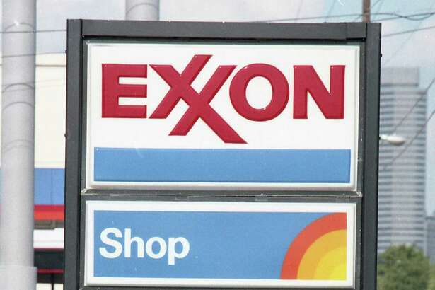 Exxon station at 5710 Memorial. The company announced it was discontinuing the sale of leaded gasoline, June 29, 1987.